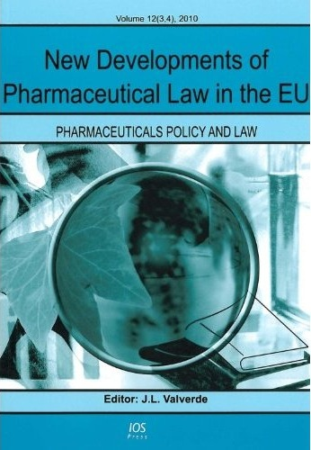 New Developments of Pharmaceutical Law.. Cover