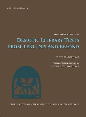 Demotic Literature Texts: From Tebtunis.. Cover