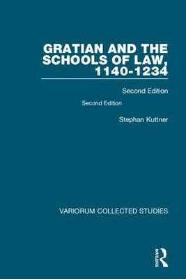 Gratian and the Schools of Law,.. Cover