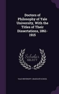Yale english dissertations
