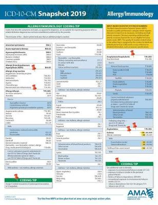 ICD-10-CM 2019 Snapshot Coding Card: Allergy/Immunology