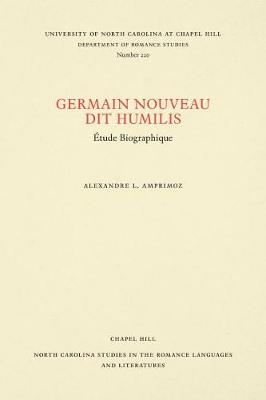 Germain Nouveau dit Humilis: Etude.. Cover