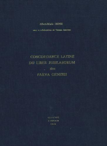 Concordance Latine Du Liber Jubilaeorum Sive Parva Genesis