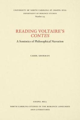Reading Voltaire's Contes: A Semiotics.. Cover