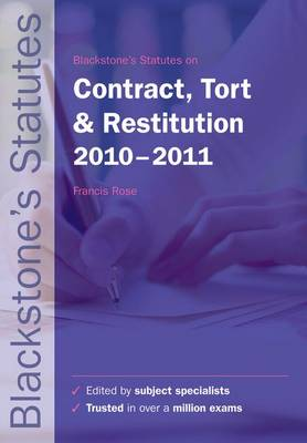 Blackstone's Statutes on Contract, Tort.. Cover