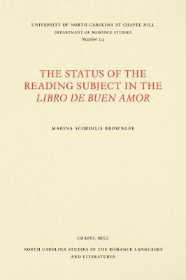 The Status of the Reading Subject in the.. Cover