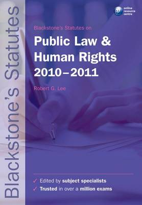 Blackstone's Statutes on Public Law &.. Cover