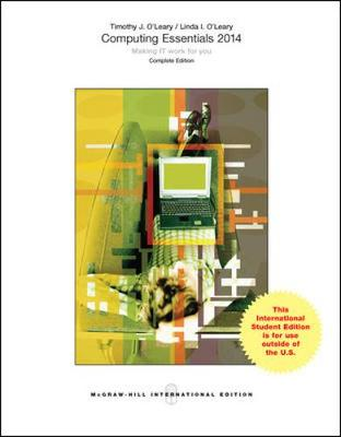 Computing Essentials 2014 Complete Edition Cover