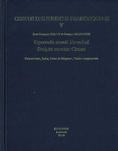 Opuscula Sancti Francisci Scripta Sanctae Clarae vol.V