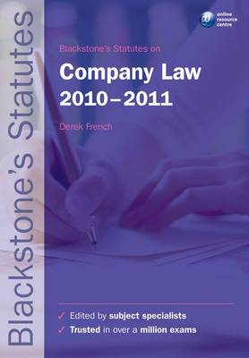 Blackstone's Statutes on Company Law.. Cover