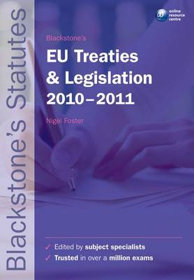 Blackstone's EU Treaties & Legislation.. Cover