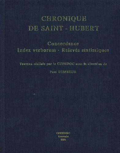 Chronique De Saint Hubert Concordance