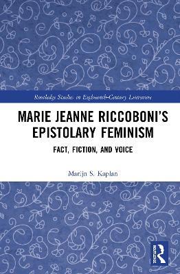 Marie Jeanne Riccoboni's Epistolary.. Cover