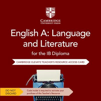 English A: Language and Literature for.. Cover