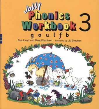 Jolly Phonics Workbook 3: g, o, u, l, f, b