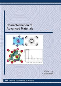 Characterization of Advanced Materials:.. Cover
