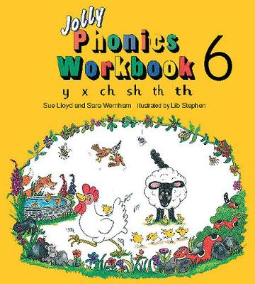 Jolly Phonics Workbook 6: y, x, ch, sh, th