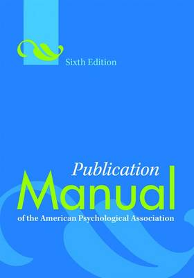 Publication Manual of the American.. Cover