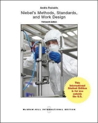 Niebel's Methods, Standards, & Work Design Cover