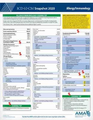 ICD-10-CM 2020 Snapshot Coding Card: Allergy/Immunology