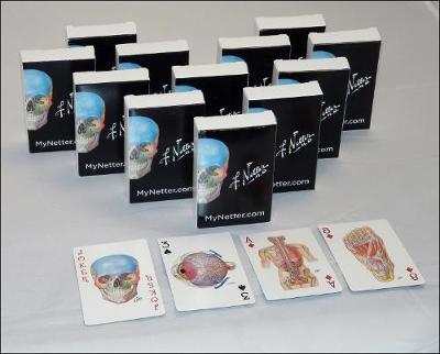 Netter Playing Cards: Netter's Anatomy Art Cards Box of 12 Decks (Bulk)