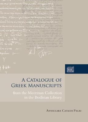 A Catalogue of Greek Manuscripts from.. Cover