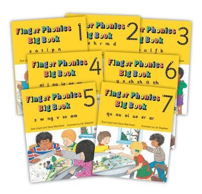 Finger Phonics Big Books 1-7: in Precursive Letters (British English edition)