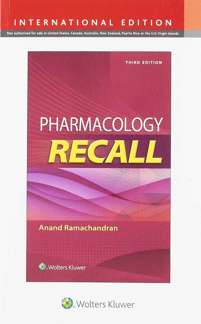 PHARMACOLOGY RECALL 3E (INT ED)