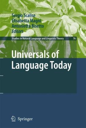 Universals of Language Today Cover